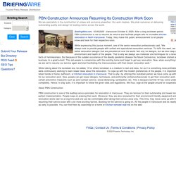 PBN Construction Announces Resuming Its Construction Work Soon