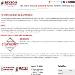 Pre-Construction Termite Applications