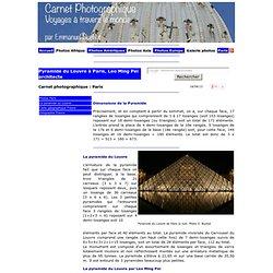 Pyramide du Louvre a Paris sa construction ses mesures et Leoh Ming Pei architecte