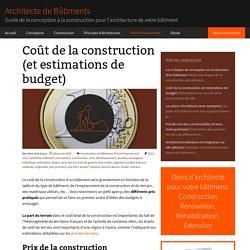 Coût de la construction - Architecte de Bâtiments