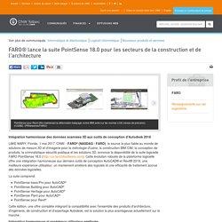 FARO® lance la suite PointSense 18.0 pour les secteurs de la construction et de l'architecture
