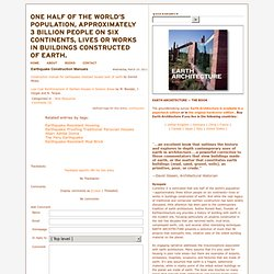 2 Construction Manuals For Earthquake-resistant Houses Built Of Earth