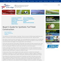 Fields - Buyer's Guide for Synthetic Turf Field Construction