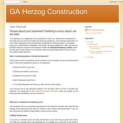GA Herzog Construction: Tensed about your basement? Nothing to worry about; we are here.