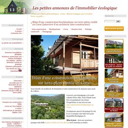 Bilan d'une construction bioclimatique sur terre-plein ventilé en Corse [Interview d'un architecte auto-constructeur]