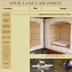 four à gaz, construction et calcul, bruleur air induit