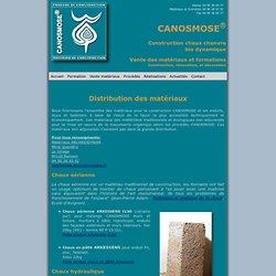 Construction Chaux Chanvre CANOSMOSE - Matériaux