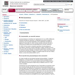 Industrie-IAA-Construction - Panorama de l'industrie française par secteurs d'activité - édition 2009 - F45 Caoutchouc