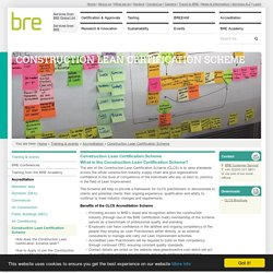 BRE: Construction Lean Certification Scheme