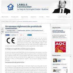 Réglement produits construction