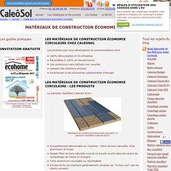 matériaux de construction économie circulaire par Caleosol