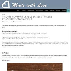 Tricoter du haut vers le bas : les types de construction classique
