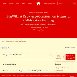 EduWiki: A Knowledge Construction System for Collaborative Learning