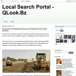 Local Search Portal - QLook.Bz: Construction Companies will Save your Precious Time by their Services