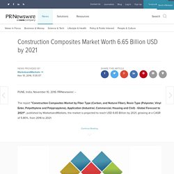 Construction Composites Market Worth 6.65 Billion USD by 2021