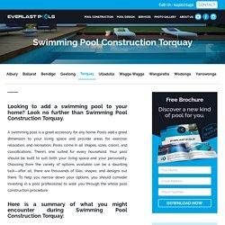 Pool Construction Torquay : Concrete Swimming Pools