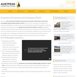 Commercial & Warehouse Construction Company Perth