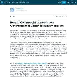 Role of Commercial Construction Contractors for Commercial Remodelling: adudesigns — LiveJournal