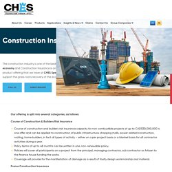 Construction Coverage - CHES Special Risk Inc
