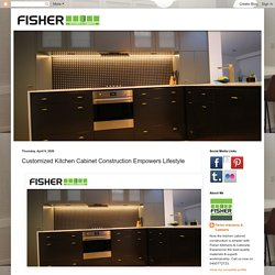 Customized Kitchen Cabinet Construction Empowers Lifestyle
