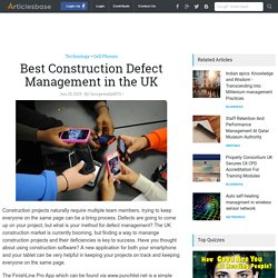 Best Construction Defect Management in the UK