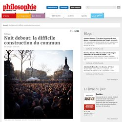 Brèves, Nuit Debout, Démocratie, République, Commun, Pierre Dardot, Christian Laval, Travail