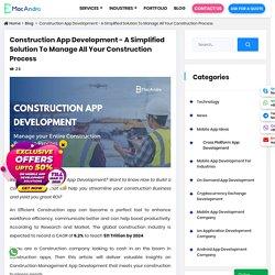 Construction Management App Development
