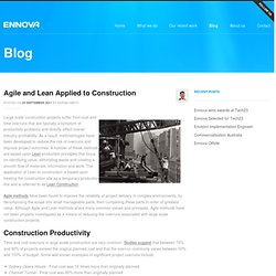 Agile and Lean Applied to Construction - Agile Software Development for Web and Mobile - Ennova