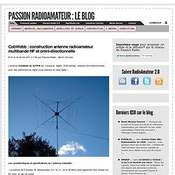 CobWebb : construction antenne radioamateur multibande HF et omni-directionnelle