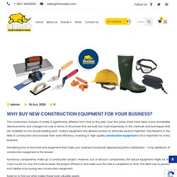 Why Buy New Construction Equipment For Your Business? - Rhino Distribution