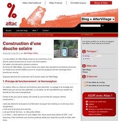 Construction d'une douche solaire - Les blogs d'Attac