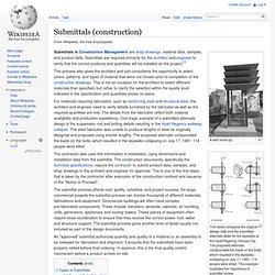 Submittals (construction)