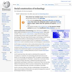 Social construction of technology - Wikipedia, the free encyclop