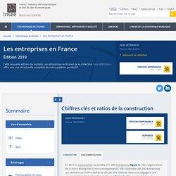 Chiffres clés et ratios de la construction − Les entreprises en France