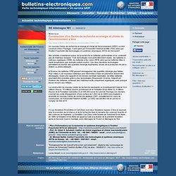 09/05> BE Allemagne581> Construction d'un Centre de recherche en énergie et chimie de l'environnement à Iéna
