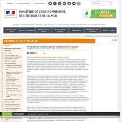 Produits de construction et matériaux bio-sourcés