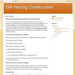 GA Herzog Construction: Remodel your basement with all new equipment