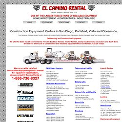 Backhoe Rentals, Bob Cat & Forklift Equipment For Rent In San Diego | El Camino Rental