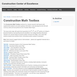 Construction Center of Excellence