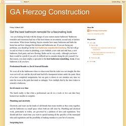 GA Herzog Construction: Get the best bathroom remodel for a fascinating look