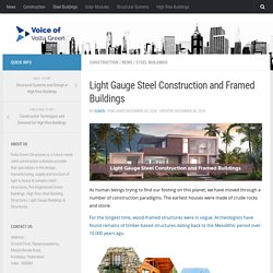 Light Gauge Steel Construction and Framed Buildings