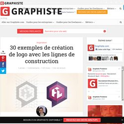 30 exemples de création de logo avec les lignes de construction