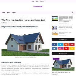 Why New Construction Homes Are Expensive?