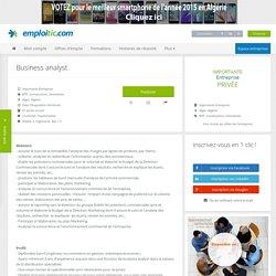 Offre d'emploi Business analyst - BTP, Construction, Immobilier - Alger, Algérie