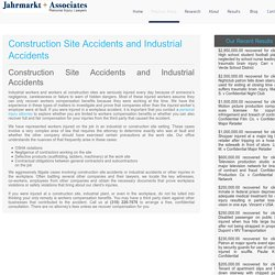 Construction Site Accidents and Industrial Accidents