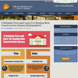 9 Reliable Pros and Cons For Buying New Construction Homes [Infographic]
