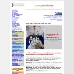 CONSTRUCTION INSTRUMENTS DE MUSIQUE 2010/ 2011 pour classe de CE2 de Florence C.ecole LOuise Michel à CREIL
