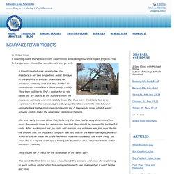 Construction Insurance Repair Work