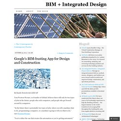 Google's BIM-busting App for Design and Construction