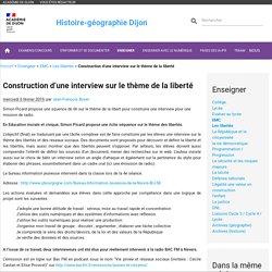 Construction d'une interview sur le thème de la liberté